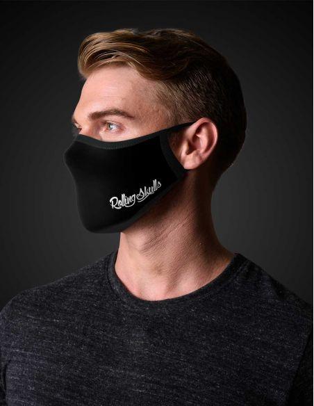 Reusable face mask - 2 layers- design Skull