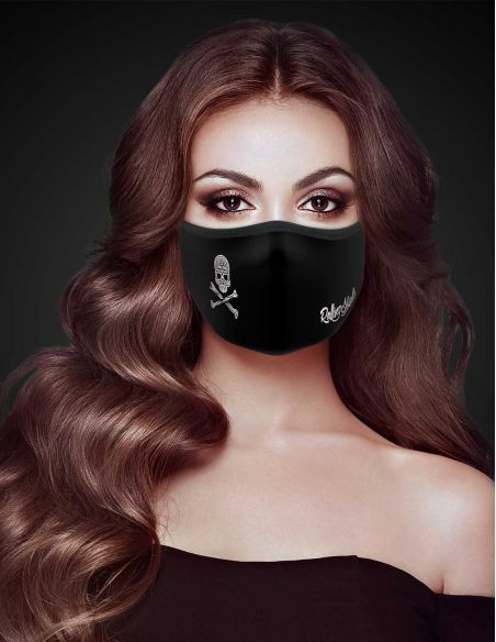 Reusable face mask - 2 layers- design Skull