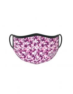 Reusable face mask - 2 layers- design Pink