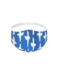 Reusable face mask - 3 layers - design Santorini