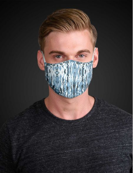 Reusable face mask - 3 layers - design Snow