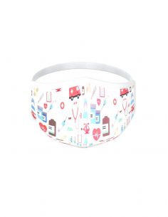 Reusable face mask - 3 layers - design Medical
