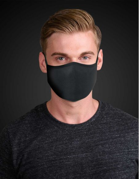 Reusable face mask - 3 layers - Black