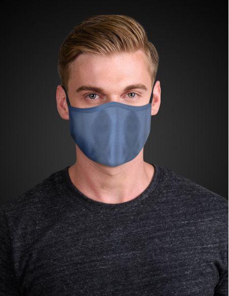 Masque facial réutilisable en tissu - 3 couches - Navy