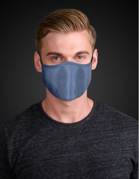 Reusable face mask - 3 layers - Navy