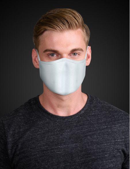 Masque facial réutilisable en tissu - 3 couches - Grey