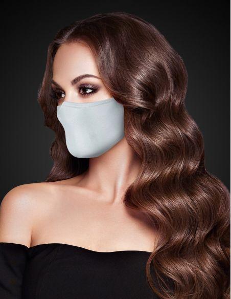 Reusable face mask - 3 layers - Grey